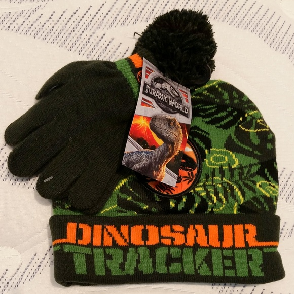 2577baf63d36d9 Accessories | Jurassic Park Winter Hat Gloves | Poshmark